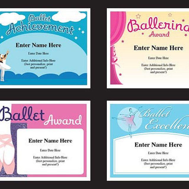 Ballet Certificate Pack Dancing Awards Dance Team with Dance Certificate Template