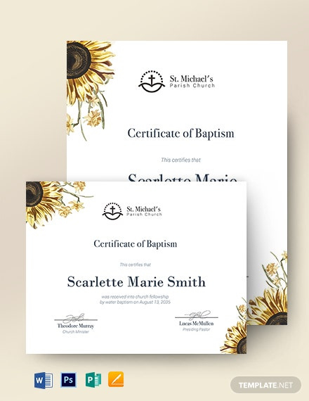 Baptism Certificate  19 Free Word Pdf Documents with Baby Christening Certificate Template