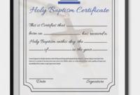 Baptism Certificate Template Download 4  Templates in Baptism Certificate Template Word