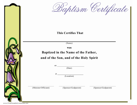 Baptism Certificate Template Download Printable Pdf intended for Free Fillable Baby Dedication Certificate Download