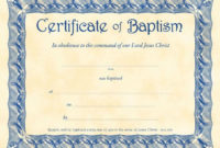 Baptism Certificate Template Pdf Ideas Awesome Of Broadman for Quality Christian Baptism Certificate Template