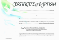 Baptism Certificate Template Word 1  Templates Example with regard to Printable Baptism Certificate Template Download
