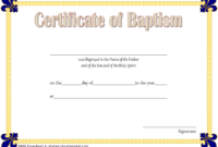 Baptism Certificate Template Word 9 New Designs Free inside Awesome Crossing The Line Certificate Template