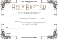 Baptism Certificate Template Word 9 New Designs Free with regard to Awesome Crossing The Line Certificate Template