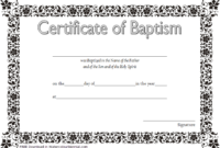 Baptism Certificate Template Word 9 New Designs Free with regard to Crossing The Line Certificate Template