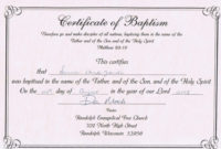 Baptism Certificate Template Word  Business Plan Templates regarding Baptism Certificate Template Word Free