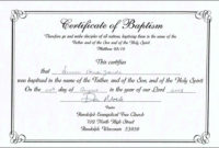Baptism Certificate Templates  Tutlinpsstechco  Free with Printable Baptism Certificate Template Download