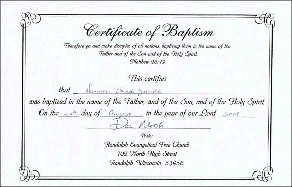 Baptism Certificate Templates  Tutlinpsstechco  Free with Printable Baptism Certificate Template Download