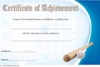 Baseball Achievement Certificate Templates 7 Best Choices regarding Table Tennis Certificate Template Free