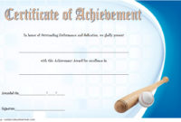 Baseball Achievement Certificate Templates 7 Best Choices with Amazing Table Tennis Certificate Templates Editable