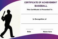 Baseball Certificate Of Achievement Template  Certificate pertaining to Best Baseball Achievement Certificate Templates