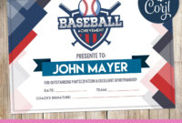 Baseball Certificate Party Supplies  Certificate within Best Baseball Achievement Certificate Templates