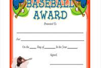 Baseball Certificate Template  8 Pdf Word Ai Indesign within Winner Certificate Template Ideas Free
