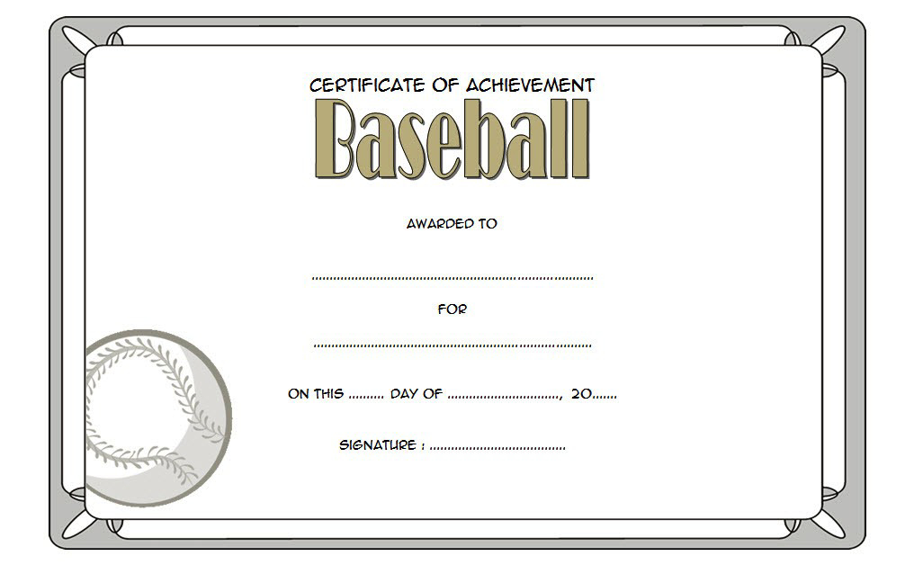 Baseball Certificate Template Free 14 Award Designs with Free Netball Achievement Certificate Template