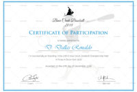 Baseball Participation Certificate Design Template In Psd pertaining to Printable Certificate Of Participation Word Template