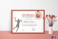 Basketball Award Achievement Certificate Design Template pertaining to Printable Best Coach Certificate Template Free 9 Designs