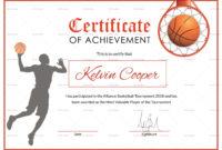 Basketball Award Achievement Certificate Design Template throughout Free Netball Achievement Certificate Editable Templates