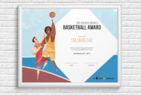 Basketball Award Certificate  Certifreecates in 7 Basketball Achievement Certificate Editable Templates