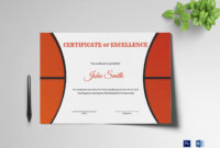 Basketball Award Certificate Template Lovely Basketball regarding Badminton Certificate Template Free 12 Awards