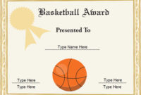 Basketball Awards Certificates Ideas inside Amazing Basketball Participation Certificate Template