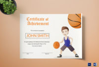 Basketball Certificate Design Template In Word Psd with regard to Basketball Certificate Template Free 13 Designs