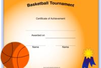 Basketball Certificate Of Achievement Template Download intended for Basketball Achievement Certificate Templates
