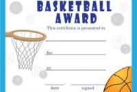 Basketball Certificate Template 8 In 2020  Certificate throughout Best Basketball Certificate Templates
