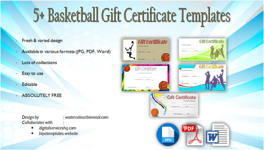 Basketball Gift Certificate Templates 5 Best Choices for Basketball Gift Certificate Templates