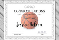 Basketball Participation Certificate Free Printable  Free in Basketball Certificate Templates