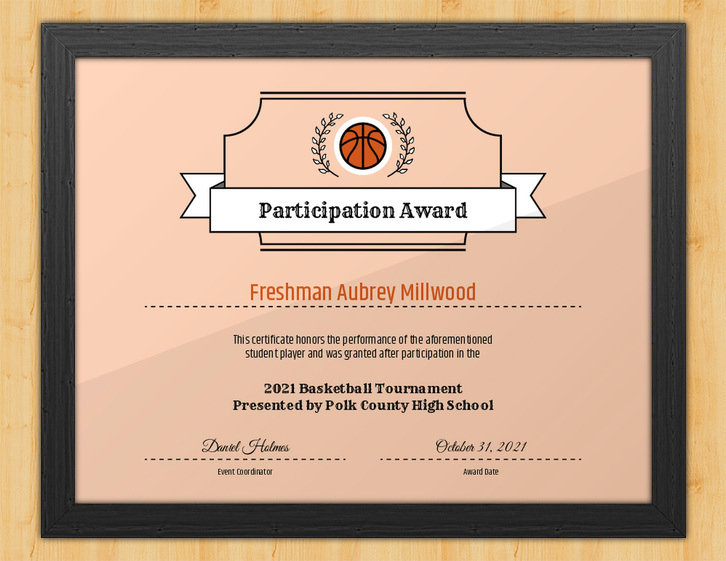 Basketball Participation Certificate  Nothing But Net with regard to Amazing Basketball Tournament Certificate Template Free