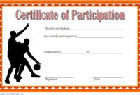 Basketball Participation Certificate Template  10 with regard to Free Tattoo Certificates Top 7 Cool Free Templates