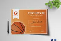 Basketball Recognition Certificate Design Template In Psd inside Quality Basketball Certificate Template Free 13 Designs