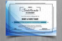 Beautiful Certificate Template Design  Download Free inside Awesome Beautiful Certificate Templates