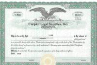 Best 3 Stock Certificate Template Format Excel  You for Corporate Bond Certificate Template