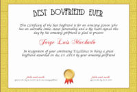 Best Boyfriend Certificate Template Elegant Best Boyfriend regarding Free Membership Certificate Template Free 20 New Designs