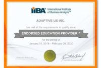 Best Cbap Ccba  Ecba Certification Training  About regarding Printable Softball Certificate Templates Free