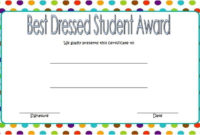 Best Dressed Student Award Certificate Free 1 within Best Dressed Certificate Templates