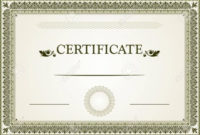 Best Free Vector Certificate Borders Cdr » Free Vector Art for Borderless Certificate Templates