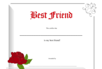 Best Friend Certificate Template Download Printable Pdf for Best Wife Certificate Template