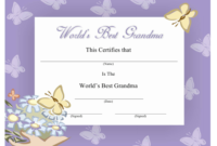 Best Grandma Certificate Template Download Printable Pdf inside Best Girlfriend Certificate Template