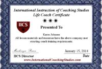 Best Life Coach Certificate Us  2019 Update  Formsproio within Update Certificates That Use Certificate Templates
