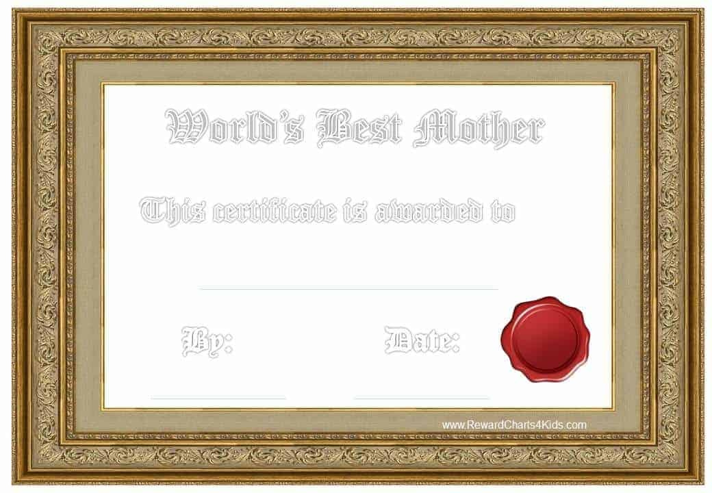 Best Mom Award  Customize Online  Print At Home intended for Amazing Mothers Day Gift Certificate Template