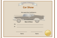 Best Of Car Show Award Certificate Template Download inside Free Cooking Contest Winner Certificate Templates
