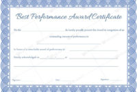 Best Performance Award Certificate 02  Certificate for Best Performance Certificate Template