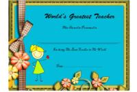 Best Teacher Certificate Templates In 2020  Teacher regarding Best Classroom Certificates Templates