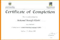 Best Templates Training Completion Certificate Formatdoc regarding Printable Training Completion Certificate Template