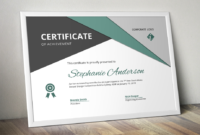 Big Triangle Corporate Certificate Template For Ms Word inside Word 2013 Certificate Template