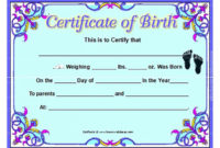 Birth Certificate Template And To Make It Awesome To Read intended for Printable Editable Birth Certificate Template