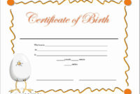 Birth Certificate Template Doc Lovely 14 Free Birth within Birth Certificate Template For Microsoft Word