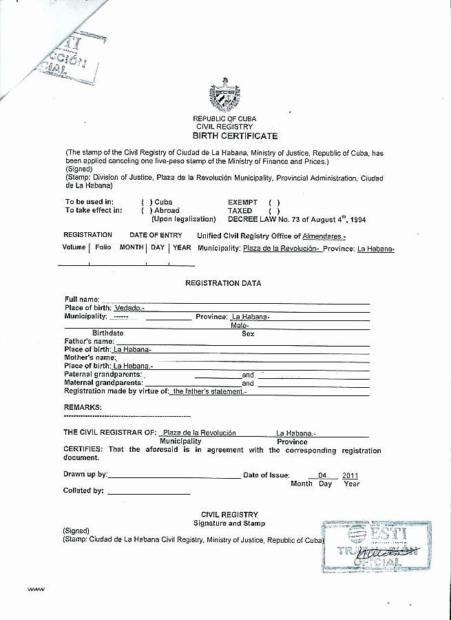 Birth Certificate Translation Template Unique Birth within Birth Certificate Translation Template